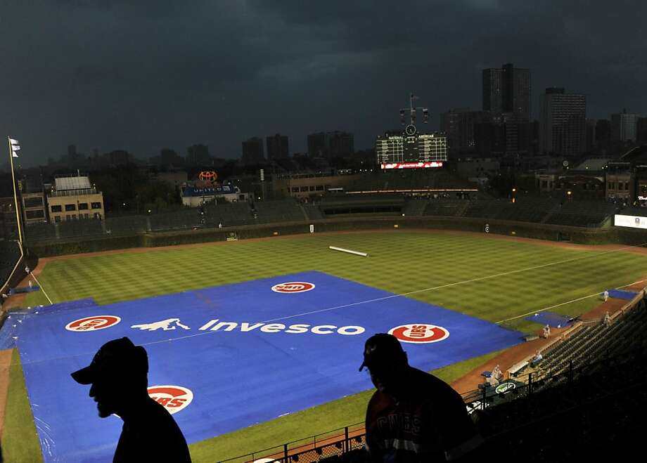 A general view of Wrigley Field as storm clouds roll in before the game between the Chicago Cubs and the Pittsburgh Pirates on September 17, 2012 at Wrigley Field in Chicago, Illinois.  (Photo by David Banks/Getty Images) Photo: David Banks, Getty Images