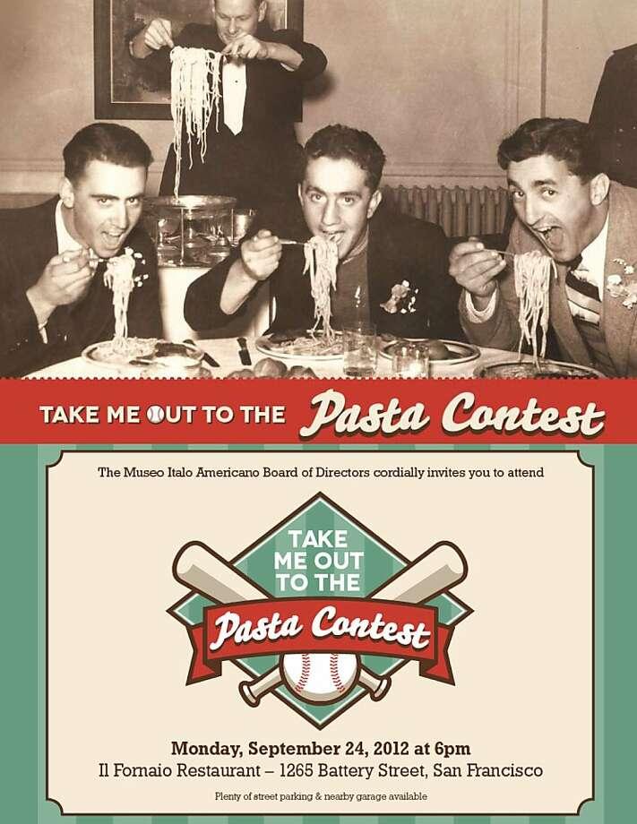 The annual Museo Italo Americano Pasta Contest takes place Sept. 24 at Il Fornaio in San Francisco. Photo: Museo Italo Americano