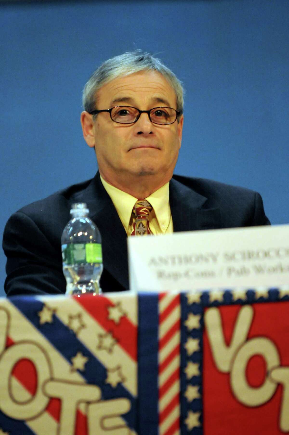 Incumbent Comissioner of Public Works Anthony J. Scirocco during a forum in 2009, at Saratoga Springs High in Saratoga Springs, N.Y. (Cindy Schultz / Times Union)