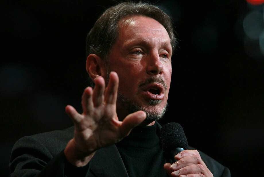 Larry Ellison is stepping down as CEO for Oracle.Oracle CEO Larry Ellison delivers a keynote address during the 2010 Oracle Open World conference on September 22, 2010 in San Francisco, California. Ellison delivered the final keynote of the week-long conference that runs through September 23. Photo: Justin Sullivan, Getty Images