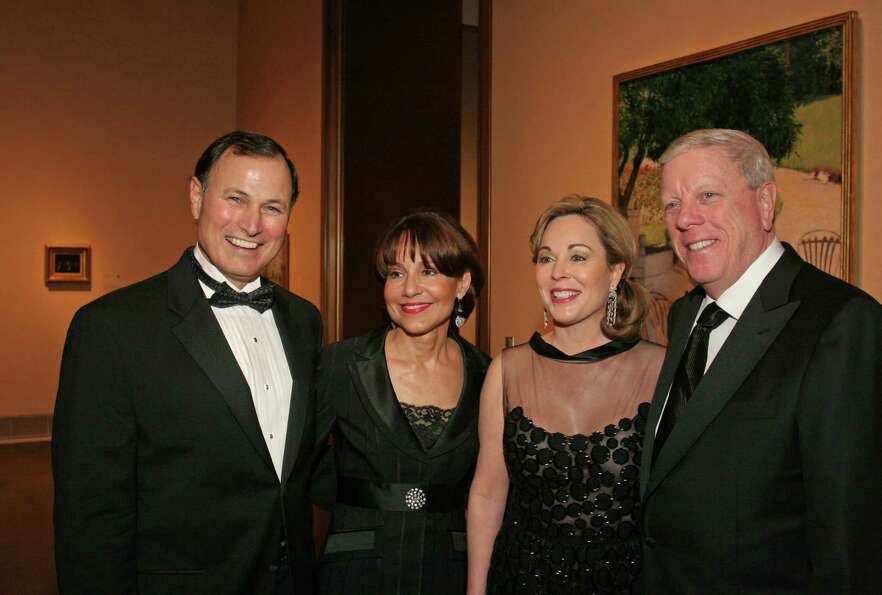 Richard Kinder (far right), 67, is worth an estimated $9.4 billion. Kinder made his money through hi