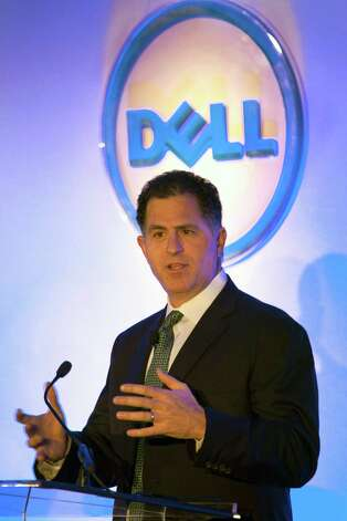Michael Dell, 47, is worth an estimated $14.6 billion. He made his money on his computer company. Dell is a Houston native who now resides in Austin. Photo: Ed Lallo, Bloomberg