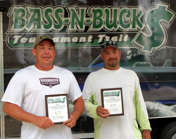 Jason Wells and Vic Cooper came up from 8th place on day one to win 3rd place overall.  They also won Anglers of the Year in the Bass N Bucks Rayburn Summer Series - for the second year in a row!  Photo by Patty Lenderman, Lakecaster