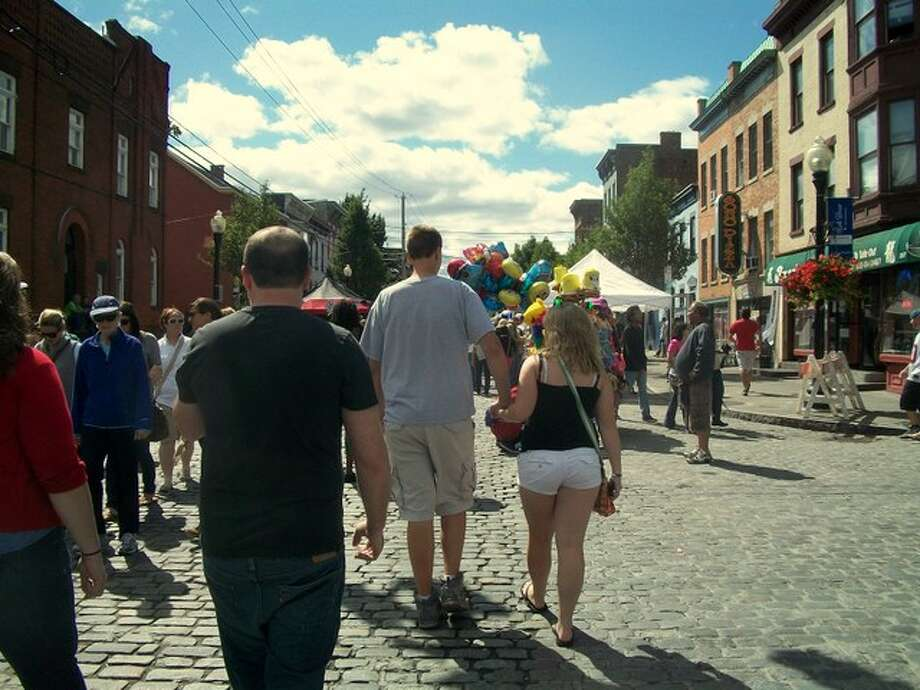 Lark street during the festival. Photo by Ariella Phillipo. Photo: Picasa, New Visions: Journalism & Media Studies