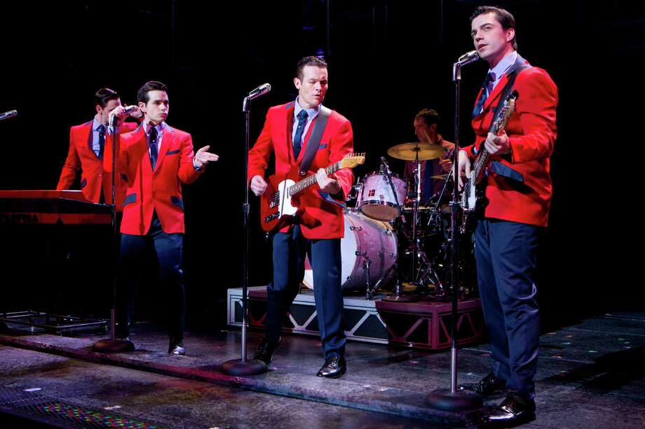 "The national touring company of ""Jersey Boys"" opens Tuesday, Sept. 25, at the Shubert Theater. The show runs through Oct. 7 and is the first two-week booking at the New Haven venue in many years. The cast includes (left to right) Jason Kappus, Brad Weinstock, Colby Foytik, and Brandon Andrus. Photo: Contributed Photo / Connecticut Post Contributed"
