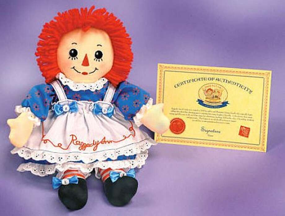 Raggedy Ann: Created in 1915; produced by Hasbro Inc.