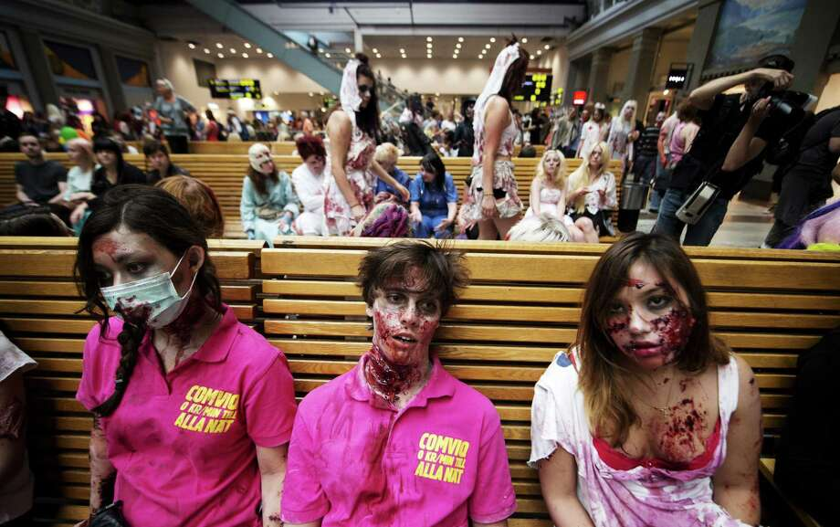 Zombies The Centers for Disease Control has a zombie preparedness plan, though they assure you that zombies don't exist. That said, the military is getting zombie defense training now. Are you prepared? AFP/GettyImages Photo: JONATHAN NACKSTRAND, ... / AFP