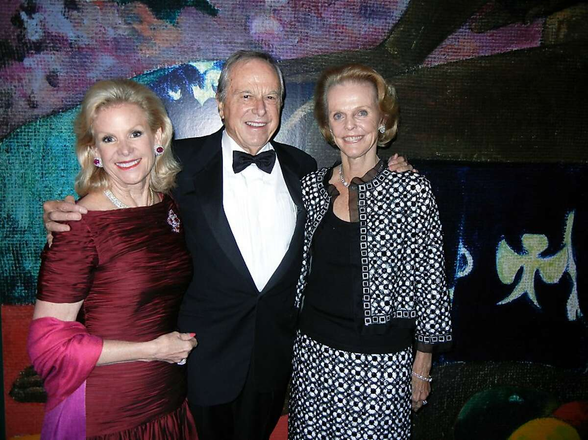 Fine Arts Museums Board President Dede Wilsey (left) with Paley exhibition co-sponsors Sandy and Jeanne Robertson at the de Young Museum. Sept. 12.