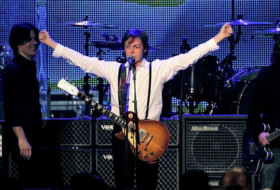 Paul McCartney performs Feb. 10, 2012, in L.A. (AP) Photo: Chris Pizzello, Associated Press / AP