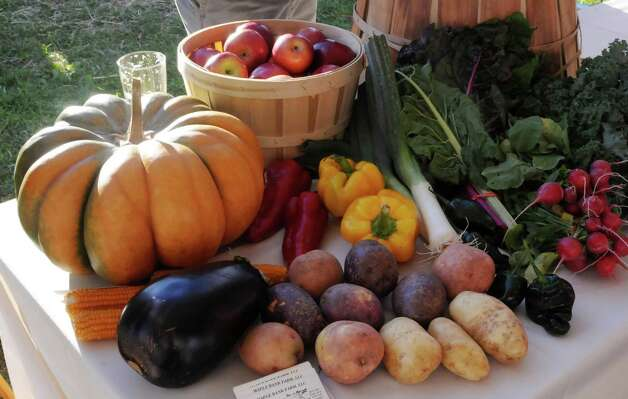 Bridgewater Land Trust's farm to fork (plow to plate) fundraising dinner was held outside Tom and Anita Hargrove's home in Bridgewater on Saturday, September 15, 2012. Photo: Lisa Weir