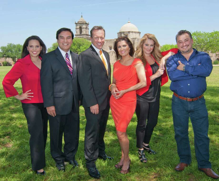 Mike Garofalo and Leslie Bohl are flanked by Kristina De Leon, Albert Flores, Shelly Miles and Cleto Rodriguez. Photo: WOAI