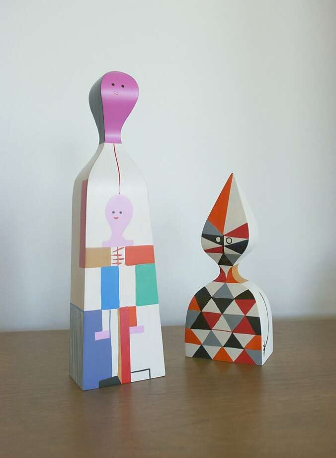 Alexander Girard dolls:  These gorgeous wooden dolls by Alexander Girard make me smile every time I walk by them. The shapes and exaggerated proportions are so great, and they really help bring a lively pop of color into a room. Photo: Lab Partners