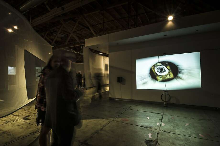"Maurice Benayoun's installation ""Tunnels Around the World"" (2012) features images that change speed and sequence. Photo: Maurice Benayoun, Patrick Lydon."