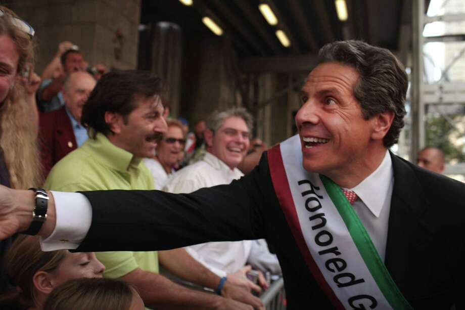 Gov. Andrew Cuomo of New York, like Gregoire a practicing Catholic, pushed legalization same-sex marriage through the Empire State's fractious Legislature last spring.  It became signature issue for the newly elected governor, a top Democratic presidential prospect for 2016 (and Al Pacino lookalike). Photo: Spencer Platt, Getty Images / 2011 Getty Images