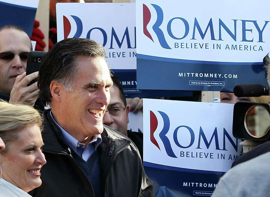 "Ex-Gov. Mitt Romney, front-runner for the Republican presidential nomination, tried to run to the left of Sen. Ted Kennedy in 1994, arguing he could be a more effective defender/advocate of gay rights, but now declares opposition to marriage equality.  ""I oppose same-sex marriage and that has been my view,"" he said the other day in New Hampshire. Photo: Justin Sullivan, Getty Images / 2012 Getty Images"