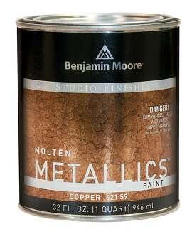 Benjamin Moore's Molten Metallics imitates the look of hammered metal.