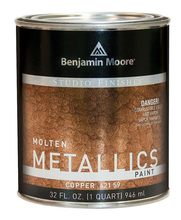 Benjamin Moore's Molten Metallics imitates the look of hammered metal. Photo: Benjamin Moore