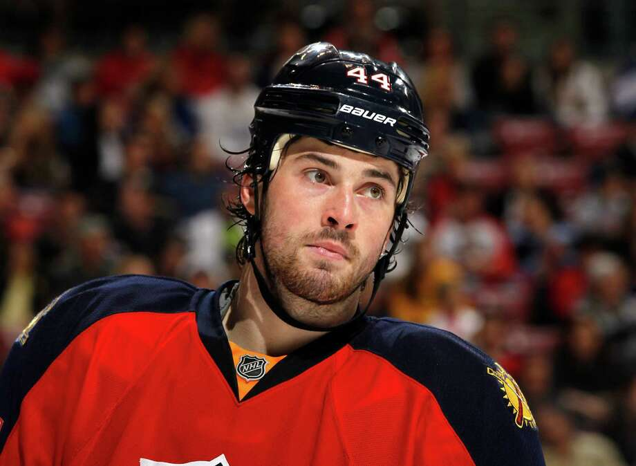 Erik Gudbranson of the Florida Panthers skates back onto the ice after a break in action against the Toronto Maple Leafs on December 27, 2011 at the BankAtlantic Center in Sunrise, Florida. Photo: Joel Auerbach, Getty Images / 2011 Getty Images