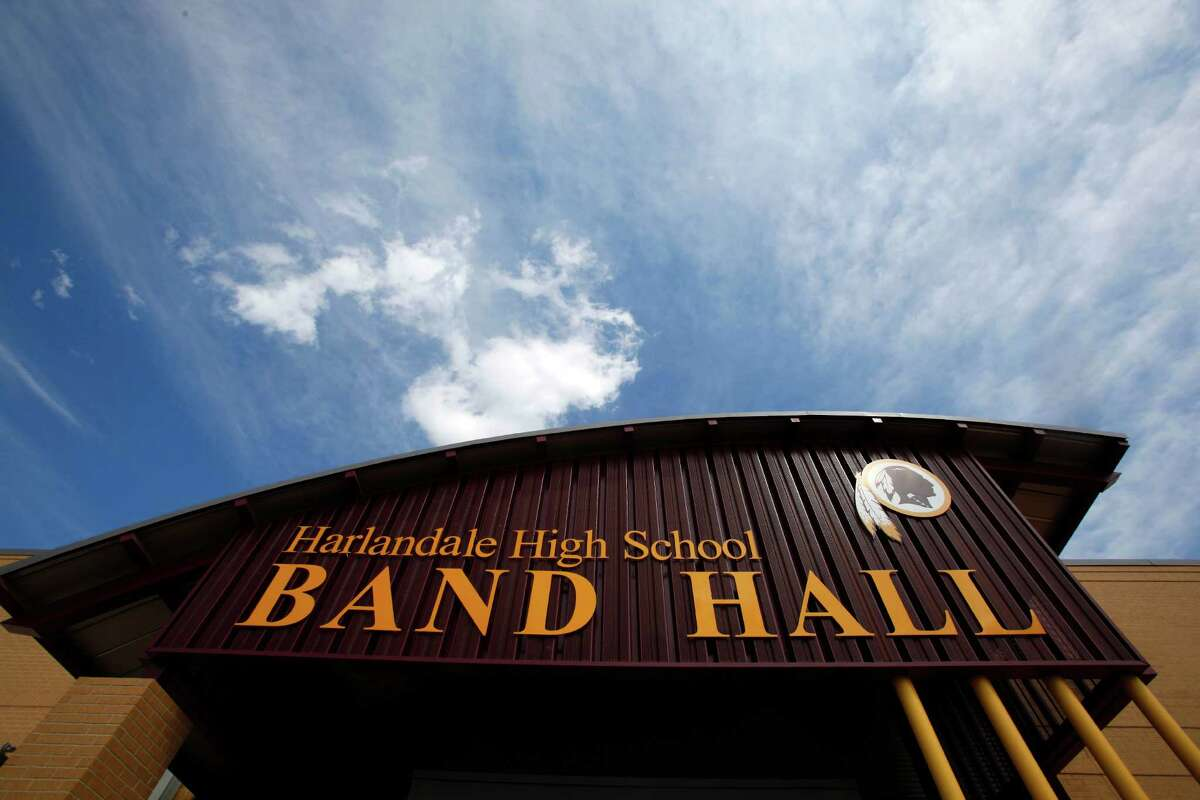 The bond-funded and recently-finished Harlandale High School band hall is seen Tuesday Sept. 18, 2012. The facility, along with a new field house and a new band hall and field house at McCullom High School, are the first new such facilities built in the district in 50 years.