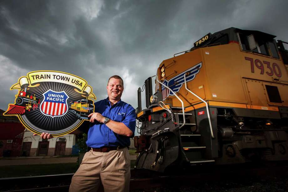 "Navasota Mayor Bert Miller is proud of his city's membership in the Train Town USA registry. ""The railroad is the main reason Navasota is even here,"" he says. Photo: Michael Paulsen / © 2012 Houston Chronicle"
