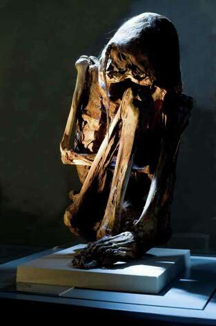 This adult male Chilean mummy is from the Atacama desert, a 600-mile plateau in northern Chile between the Pacific Ocean and the Andes mountains that is known as one of the driest places on earth. He is part of the Mummies of the World exhibition -- the largest traveling exhibition of mummies and artifacts ever assembled. Mummies of the World makes its world premiere at the California Science Center in Los Angeles on July 1, 2010.  Credit: American Exhibitions, Inc. Photo: American Exhibitions