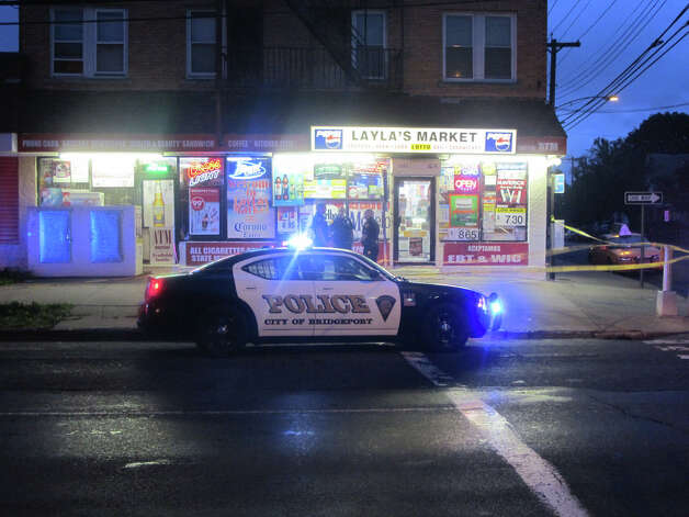 A man was shot inside Layla's Market, 1437 Fairfield Ave., Bridgeport, Conn. on Tuesday, Sept. 18, 2012. Photo: Tom Cleary