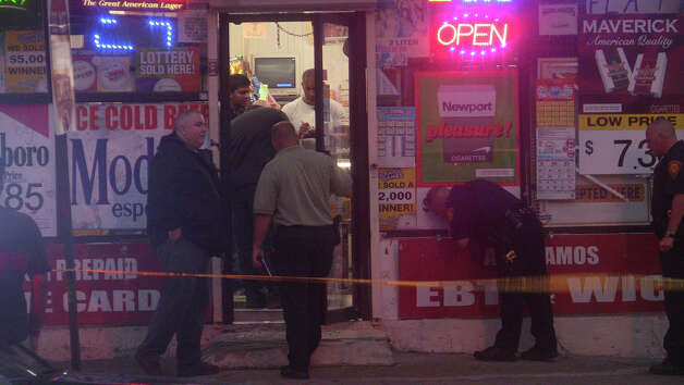 A man was hospitalized with a wound to his side after he was shot inside Layla's Market on Fairfield Avenue Tuesday night, police and witnesses said. Photo: Stephen Krauchick, DoingItLocal.com / Connecticut Post contributed