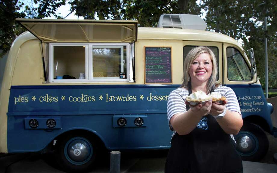 The proposal would lift limits on mobile food vendors like Jennifer Blankenship-Diaz, of Porch Swing Desserts. Photo: Cody Duty, Houston Chronicle / © 2012 Houston Chronicle