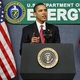 President Barack Obama speaks at the Energy Department in Washington, Thursday, Feb. 5, 2009.