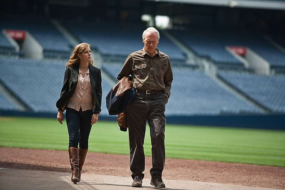 "Ailing baseball scout Gus (Clint Eastwood) and daughter Mickey (Amy Adams) take a road trip in ""Trouble With the Curve."" Photo: Keith Bernstein, Associated Press"