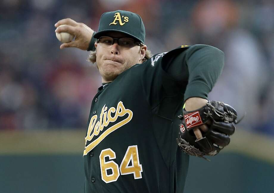A.J. Griffin had one of his worst games against the Tigers on Sept. 18. Photo: Paul Sancya, Associated Press