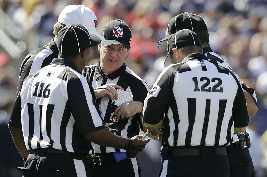 The league is using substitute officials for the first time since 2001. Photo: Elise Amendola, Associated Press