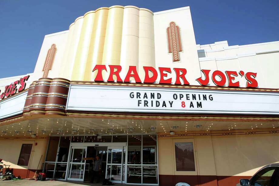 Exterior of the refurbished movie marquee at the new Trader Joe's in the Alabama Theater on Shepherd, Tuesday, Sept. 18, 2012, in Houston.  The store is scheduled to open this Friday, September 21. Photo: Karen Warren, Houston Chronicle / © 2012  Houston Chronicle
