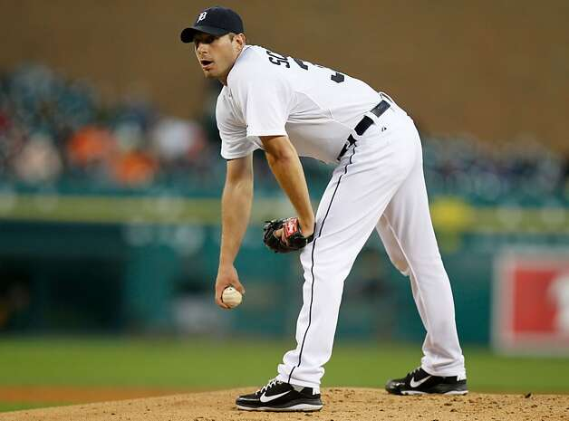 DETROIT, MI - SEPTEMBER 18: Max Scherzer #37 of the Detroit Tigers prepares to throw a second inning pitch while playing the Oakland Athletics at Comerica Park on September 18, 2012 in Detroit, Michigan.  (Photo by Gregory Shamus/Getty Images) Photo: Gregory Shamus, Getty Images