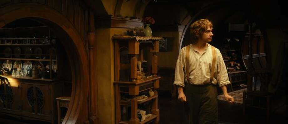"MARTIN FREEMAN as Bilbo Baggins in New Line Cinema's and MGM's fantasy adventure ""THE HOBBIT: AN UNEXPECTED JOURNEY,"" a Warner Bros. Pictures release. ((c) 2012 Warner Bros. Entertainment Inc. and Metro-Goldwyn-Mayer Pictures Inc.)"