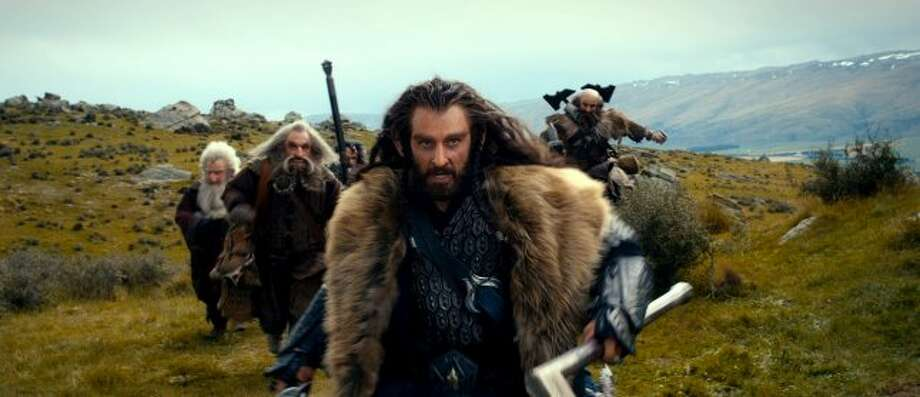 "(L-r) KEN STOTT as Balin, JOHN CALLEN as Oin, WILLIAM KIRCHER as Bifur, RICHARD ARMITAGE as Thorin Oakenshield (center) and GRAHAM McTAVISH as Dwalin in New Line Cinema's and MGM's fantasy adventure ""THE HOBBIT: AN UNEXPECTED JOURNEY,"" a Warner Bros. Pictures release. (© 2012 Warner Bros. Entertainment Inc. and Metro-Goldwyn-Mayer Pictures inc.)"