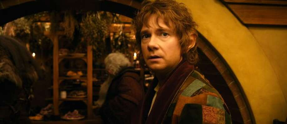 "MARTIN FREEMAN as Bilbo Baggins in New Line Cinema's and MGM's fantasy adventure ""THE HOBBIT: AN UNEXPECTED JOURNEY,"" a Warner Bros. Pictures release. (© 2012 Warner Bros. Entertainment Inc. and Metro-Goldwyn-Mayer Pictures inc.)"