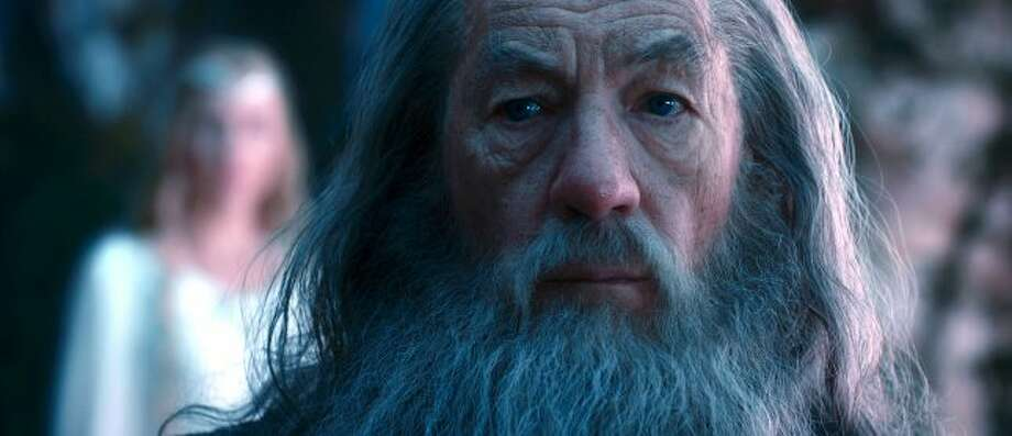 "IAN McKELLEN as Gandalf in New Line Cinema's and MGM's fantasy adventure ""THE HOBBIT: AN UNEXPECTED JOURNEY,"" a Warner Bros. Pictures release. (© 2012 Warner Bros. Entertainment Inc. and Metro-Goldwyn-Mayer Pictures inc.)"