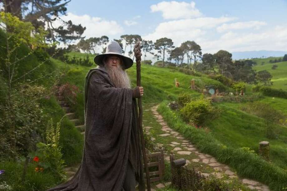 "IAN McKELLEN as Gandalf in New Line Cinema's and MGM's fantasy adventure ""THE HOBBIT: AN UNEXPECTED JOURNEY,"" a Warner Bros. Pictures release. (©2012 Warner Bros. Entertainment Inc. and Metro-Goldwyn-Mayer Pictures, Inc.  (This is to be used for New Line Territory)© Metro-Goldwyn-Mayer Pictures, Inc and 2012 Warner Bros. Entertainment Inc. (This is to be used for MGM Territory))"