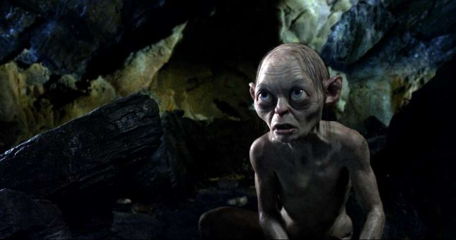 "Gollum voiced by ANDY SERKIS in New Line Cinema's and MGM's fantasy adventure ""THE HOBBIT: AN UNEXPECTED JOURNEY,"" a Warner Bros. Pictures release. (©2012 Warner Bros. Entertainment Inc. and Metro-Goldwyn-Mayer Pictures, Inc.  (This is to be used for New Line Territory)© Metro-Goldwyn-Mayer Pictures, Inc and 2012 Warner Bros. Entertainment Inc. (This is to be used for MGM Territory))"