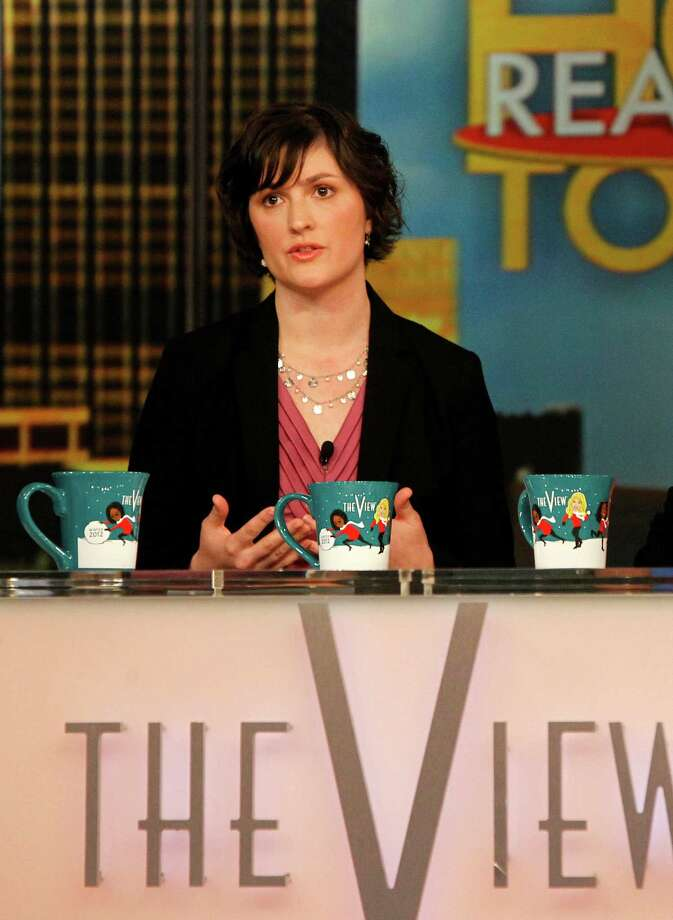 "Georgetown University law student and activist Sandra Fluke speaks during an appearance on the daytime talk show, ""The View,"" Monday, March 5, 2012 in New York. Fluke talked about conservative radio host Rush Limbaugh and the comments he made on his program after she testified to Democratic members of Congress in support of a requirement that health care companies provide coverage for contraception. Fluke told ABC's ""The View"" on Monday that she hasn't heard from Limbaugh since he issued a written apology late Saturday. (AP Photo/ABC, Lou Rocco) Photo: Lou Rocco / ©2012 American Broadcasting Companies, Inc. All rights reserved."