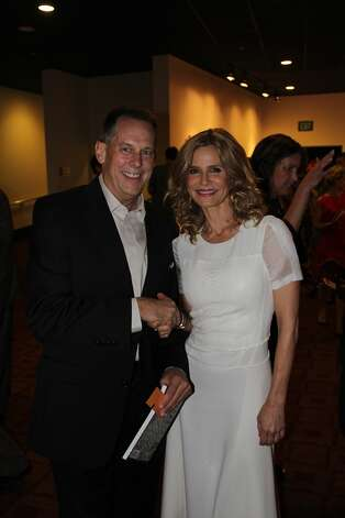 "Jason Haxton meets actress Kyra Sedgwick at the premiere of ""Possession."" Photo: Courtesy Jason Haxton"