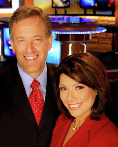 Elsa Ramon and Randy Beamer co-anchor evening news.