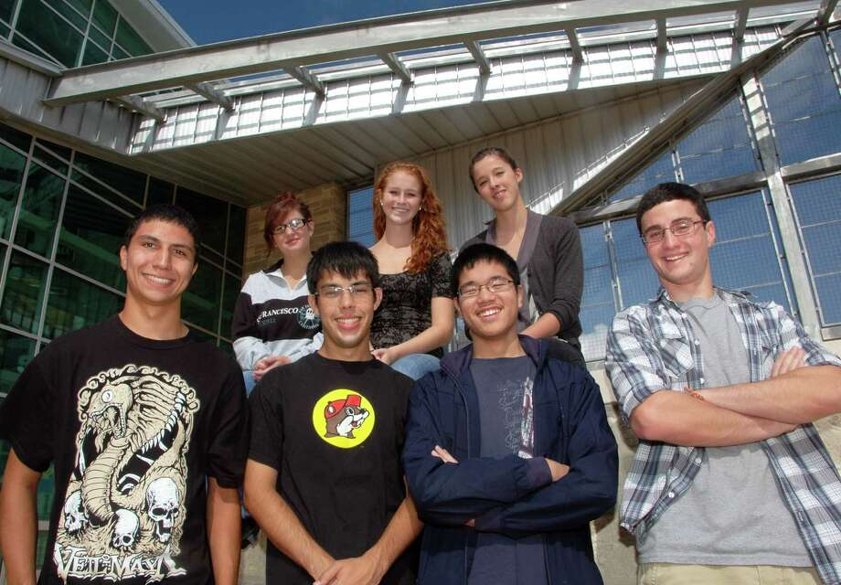 Pictured are Smithson Valley High seniors (top row, l-r) Mikaylah Collins, Lauren Stacy and Adriana Bermea. In the bottom row are Dylan Klaus, Charles Cevallos, Jeffrey Ling and Evan Green. Green, Ling Stacy and Cevallos were named National Merit Commended students, and Bermea, Collins, Klaus and Cevallos earned National Hispanic Recognition honors. Photo: Courtesy Photo