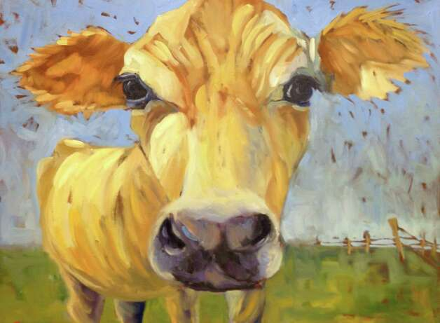 "Brendanís 101 Gallery presents Britt Bair's ""Cakes and Cows,"" now through Oct. 10. Photo: Contributed Photo"
