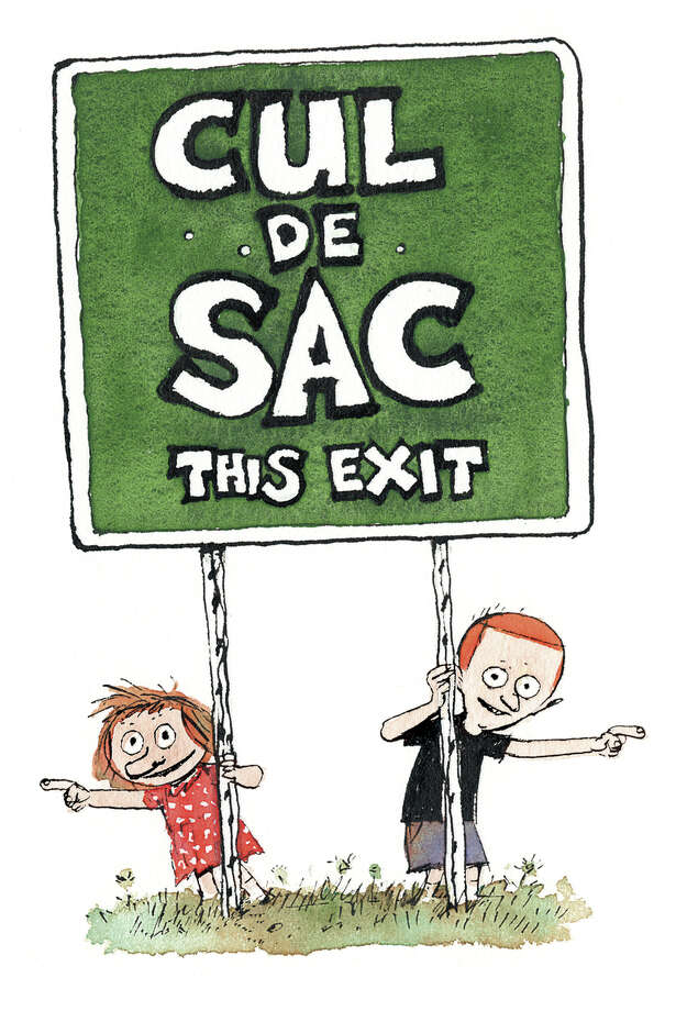 "Logo art for ""Cul de Sac,"" the comic strip by Richard Thompson. The cartoonist has ended his strip on account of Parkinson's disease. Pictured are the characters Alice Otterloop and her brother Petey. Photo: Universal Uclick"