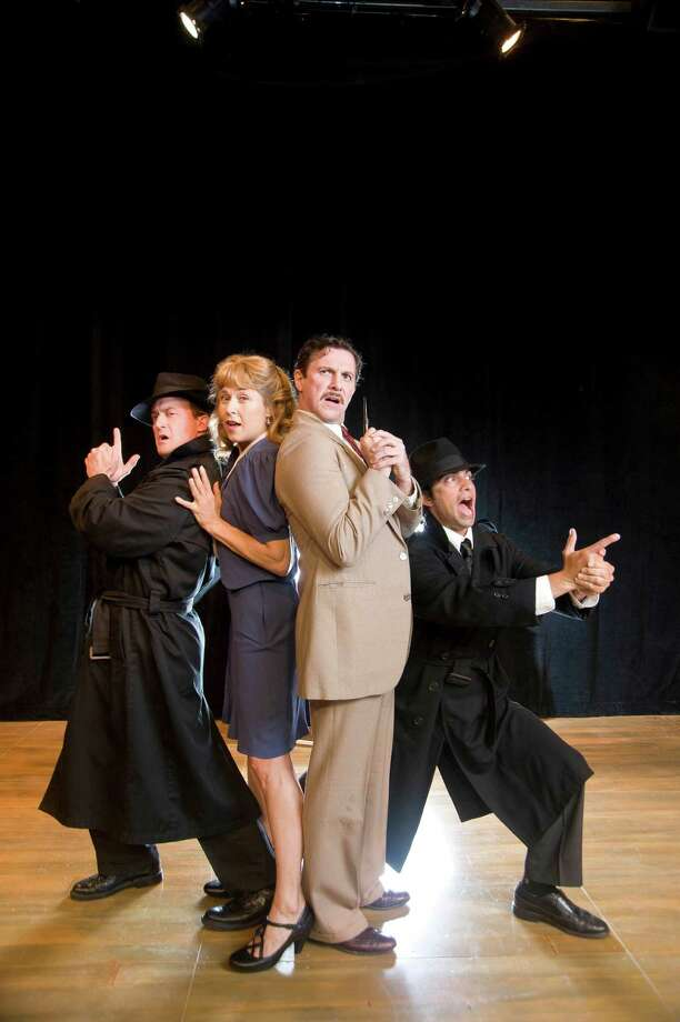 The cast of Shakespeare & Company's production of 39 Steps (Kevin Sprauge)