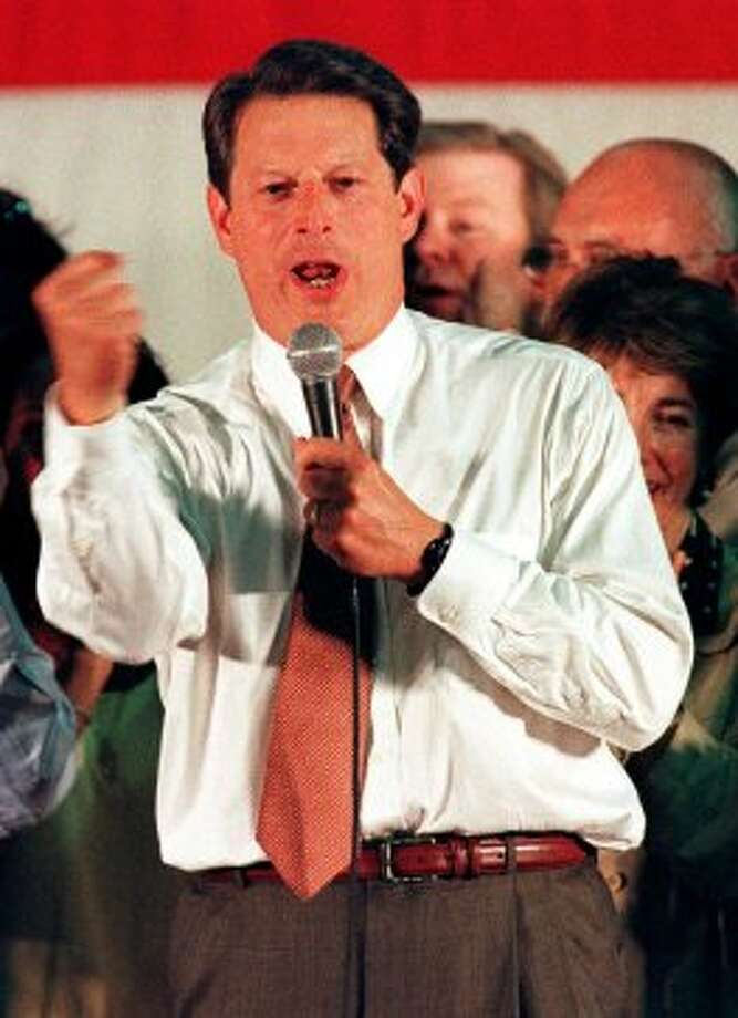 "10. Al Gore inventing the Internet. (2000) Vice President Al Gore was locked in a tough primary race against former New Jersey Sen. Bill Bradley when he spoke to CNN anchor Wolf Blitzer. Ticking off his qualifications for president, he noted, ""During my service in the United States Congress, I took the initiative in creating the Internet."" Gore indeed had been an early proponent of the Internet. But his misstatement became part of a damaging image of the Tennessee Democrat as a serial exaggerator. (Photo Aug. 10, 2000. TOM MIHALEK/AFP/Getty Images)"