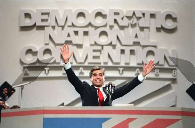 4. Michael Dukakis in the tank. (1988) This is a gaffe without a word. Democratic presidential nominee Michael Dukakis wanted to look presidential. Tough on defense. He took a ride in a tank. He looked like a little boy in a big helmet. Big mistake. Within 24 hours, the Duke's tank ride was a Republican campaign commercial. (July 21, 1988, at the Democratic National Convention in Atlanta. CHARLES UTZ/AFP/Getty Images)
