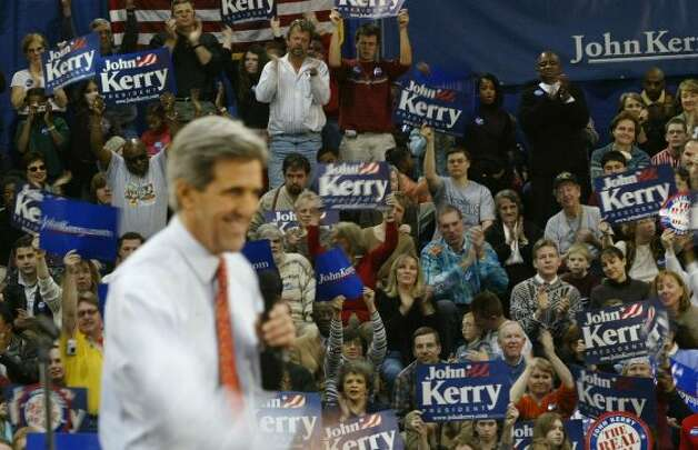 "1. John Kerry being for it before he was against it. (2004) Under attack for changing his mind on important issues for political reasons, Democratic presidential candidate John Kerry explained his switch on a funding bill. ""I actually did vote for the $87 billion, before I voted against it,"" he declared. That one sentence came to define the Massachusetts senator in the minds of many swing voters. Republican National Convention attendees taunted Kerry by waving flip-flops on the Madison Square Garden convention floor. Republicans repeated the ad from coast to coast. Kerry came close but fell just short of unseating President George W. Bush. (Photo Jab. 14, 2004. Spencer Platt/Getty Images)"